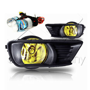07 09 Camry Front Bumper Fog Light W wiring Kit Hid Conversion Kit Yellow