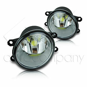 12 15 Tacoma Fog Light W wiring Kit High Power Cob Led Projector Bulbs Clear