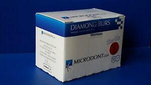Microdontusa Multi use Diamond Burs Round End Taper 859 016 Extra Fine Fg 10box