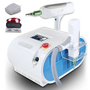 Q switch Nd Yag Laser Tattoo Eyebrow Freckle Removal Cooling Machine 1000mj Spa