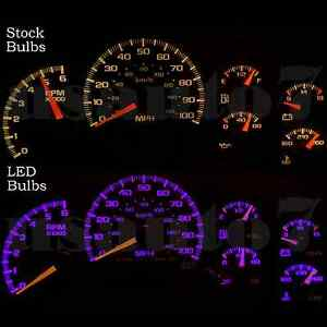Dash Cluster Gauge Purple Smd Led Light Kit Fits 99 02 Chevy Silverado 1500 2500