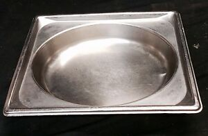 Lot Of 12 Pans Stainless Steel Half Size 2 1 2 Deep Oval Steam Table Buffet Pan