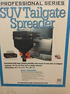 Tgsuvproa Salt Dogg Spreader W receiver Hitch Mount And Variable Speed Controll