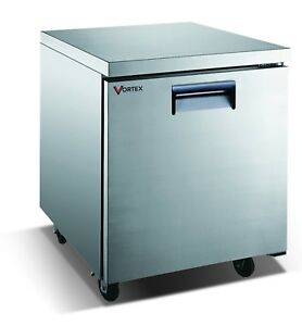 Vortex 27 Commercial 1 Door Under Counter Freezer 6 25 Cu Ft