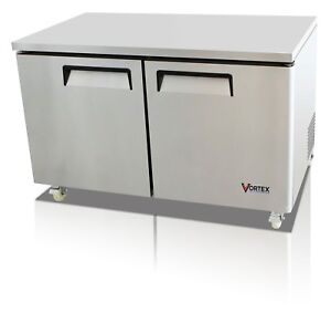 Vortex 60 Commercial 2 Door Under Counter Freezer 18 Cu Ft