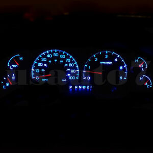 Dash Cluster Gauge Ice Aqua Blue Led Light Kit Fits 99 03 Ford F150