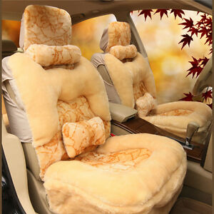 1 Set Winter Warm Faux Fur Car Seat Covers Thicken Soft Plush Car Cover Cushion