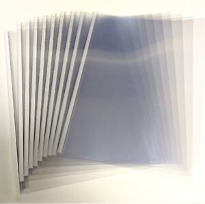 12mm White Unibind Steelcrystal Covers 100pcs