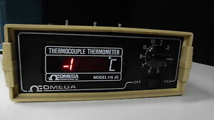 Thermocouple Thermometer Omega Engineering 115 Jc In Degrees Celcius Format