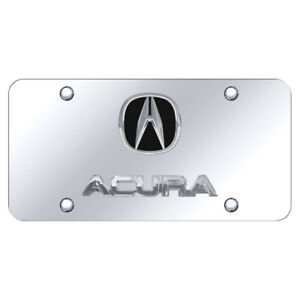 Dual Chrome Acura On Chrome License Plate Officially Licensed