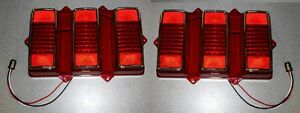 New 1969 Ford Mustang Led Tail Lights Pair Both Left And Right Side L E D