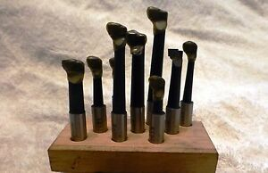 1 2 Shank C6 Carbide Tipped 9 Piece Boring Bar Tool Set With Wooden Stand