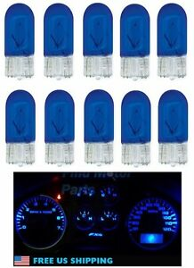 10x 194 Blue T10 Bright Light Bulbs Wedge Car Mini 5050 W5w 2825 158 192 168 Lot