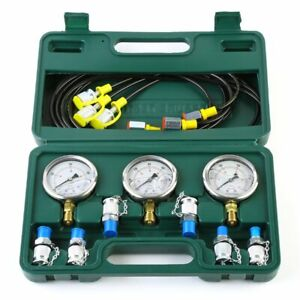 Us Hydraulic test Kit pressure adaptors hose gauges For Excavators xztk 60