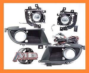 2004 2005 Mitsubishi Lancer Fog Lights Front Driving Lamps Clear Lens Pair