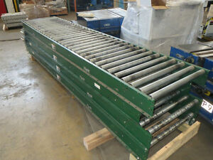 30 w X 160 l Siemens Dematic Belt On Roller Conveyor
