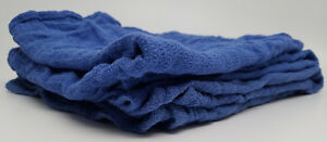 Bulk Blue Huck Towels Glass Cleaning Wiping Janitorial Lintless Surgical 10 Lbs