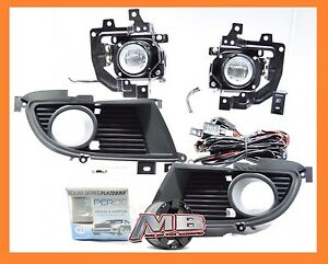 2004 2005 Mitsubishi Lancer Fog Lights Front Driving Lamps Clear Lens Perde H3