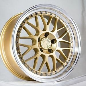 18x9 5 Aodhan Ah02 Rims 5x114 3 30 Gold Wheels Civic Rsx Tsx Mazda3 Lancer Wrx