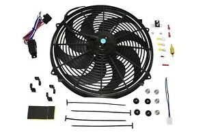 16 Electric Fan 8 Blade 3000 Cfm Wiring Kit Complete Thermostat 50 Amp Relay