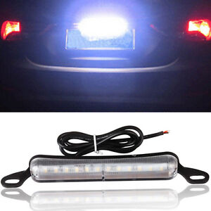 Xenon White 12 Smd Bolt On Led License Plate Light Lamp For Car Universal Fit