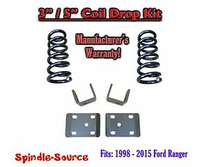 1998 2015 Ford Ranger 4 Cylinder Ext Cab 2wd 3 5 Drop Lowering Kit Coils