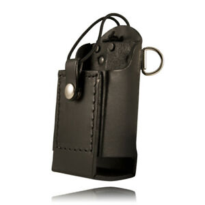 Boston Leather 5481rc 1 e Black 6 Firefighter s Radio Holder D rings