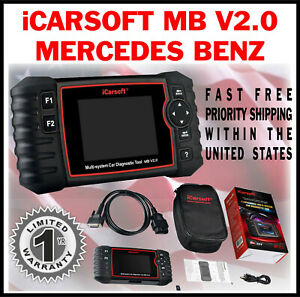 Icarsoft Mbii I980 Mercedes Benz Engine Code Reader Scan Tool Clear Erase Abs