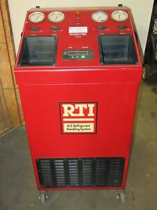 Rti Rhs2780e Ac Machine Recovery Charge Recycle Dual 134a R12 Cart