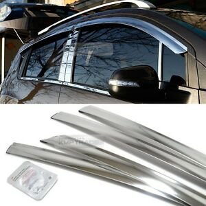 Stainless Chrome Window Sun Vent Visor Molding 4p For Chevrolet 2006 16 Captiva