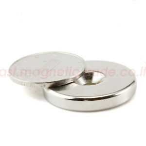 Wholesale 30mm X 5mm Countersunk 5mm Disc Strong Magnet Rare Earth Neodymium N42