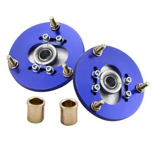 Front Pair Coilover Pillowball Camber Plates Top Mounts For Bmw E36 3 Series Arm