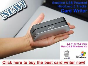 Msr X6 Smallest Bank Credit Card Reader Writer Magnetic Stripe Encoder Msr605