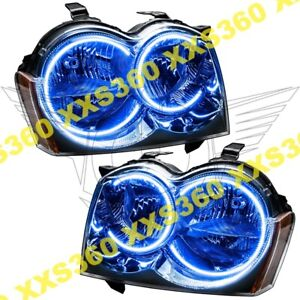 Oracle Halo Headlights Non Hid For Jeep Grand Cherokee 05 07 Blue Led Angel Eyes