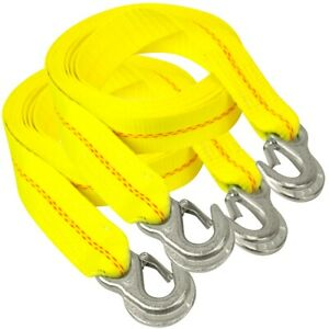 Vulcan Tow Strap With Snap Hooks 2 Inch X 10 Foot 2 Pack 3 000 Pound Safe W