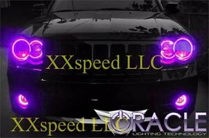 Oracle Halo Headlights Non Hid For Jeep Grand Cherokee 08 10 Purple Led Angel