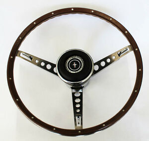 New 1967 Ford Mustang Wood Steering Wheel Original Style W Horn Ring Collar Pad