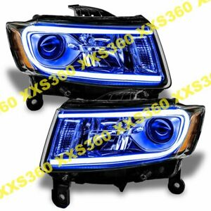 Oracle Halo Headlights Non Hid For Jeep Grand Cherokee 14 15 Blue Led Angel Eyes
