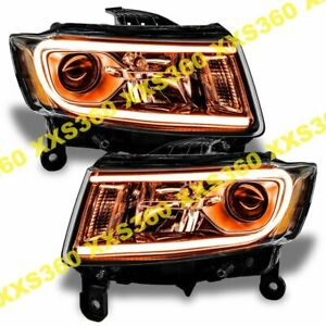 Oracle Halo Headlights Non Hid For Jeep Grand Cherokee 14 15 Amber Led Angel Eye