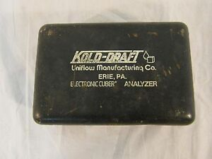 Kold Draft Ice Machine Electronic Cuber Analyzer W Original Case 32658