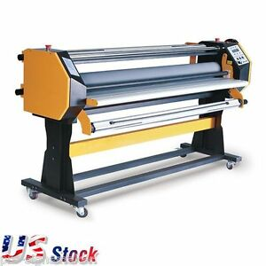 Us Stock 67 Full auto Hot Cold Laminator Wide Format Stand Frame One Side