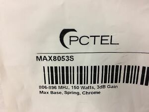7 Pack Pctel Max8053s 806 896 Mhz 150w 3db Gain Open Coil Antenna