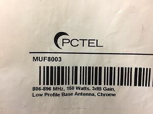 3 Pack Pctel Muf8003 Low Profile Heavy Duty 806 896 3db Gain Antenna