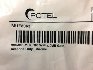 5 Pack Pctel Muf8063 Open Coil 806 866 Mhz 100 Watts 3 Db Gain Antenna