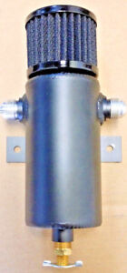 Aluminum Baffled Oil Catch Can Breather Tank An10 Drain Valve W Filter