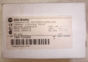 New In Box Allen Bradley Overload Relay 193 tcc60 45 60 Amp Same Day Shipping