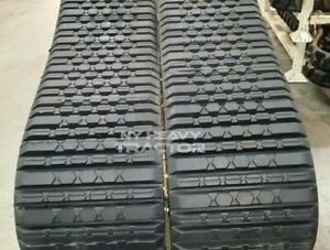 Two Genuine Oem Rubber Tracks Fits Terex Pt100 18x4x51 Free Shipping