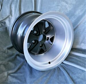 2 Maxilite Wheels For Porsche 911 11x15 Diamond Cut Rim Black Center W T V