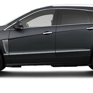 Side Molding Trim For 2010 2016 Cadillac Srx stainless Steel 6pc Lower Accent