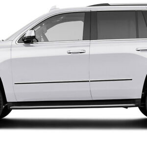Side Molding Trim For 2015 2019 Chevy Tahoe Stainless Steel 4pc Factory Style